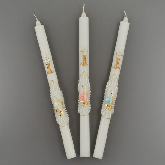 Krstová sviečka zlatá: biela, modrá, ružová