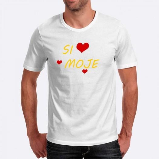 Pánske humorné tričko s výšivkou: Si moje + srdce