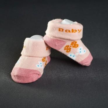 Dojčenské papučky: ružové