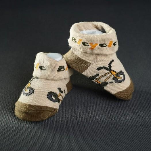 Dojčenské papučky: hnedé