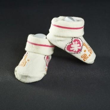 Dojčenské papučky: smotanové