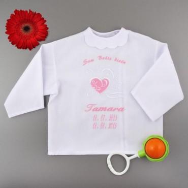 Krstová košieľka - dievčenská: Plné srdce