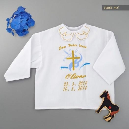 Krstová košieľka - zlatá: Kríž
