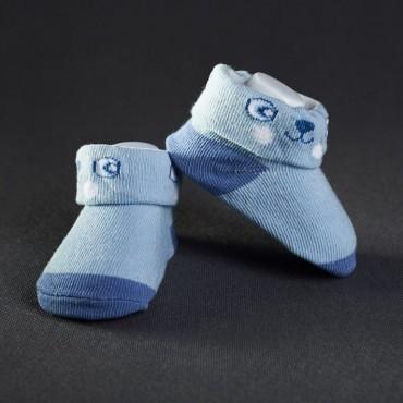 Dojčenské papučky: modré s mackom
