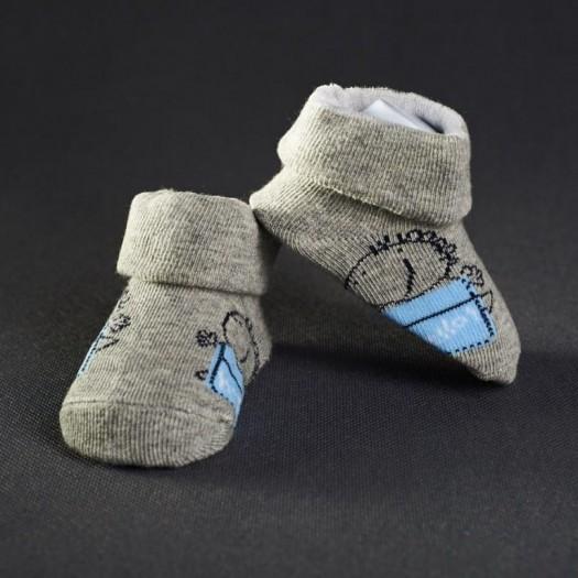 Dojčenské papučky: šedé