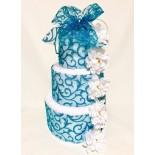 Darček z osušiek: Modrá torta