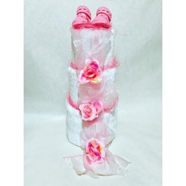 Darček z osušiek: Ružová torta