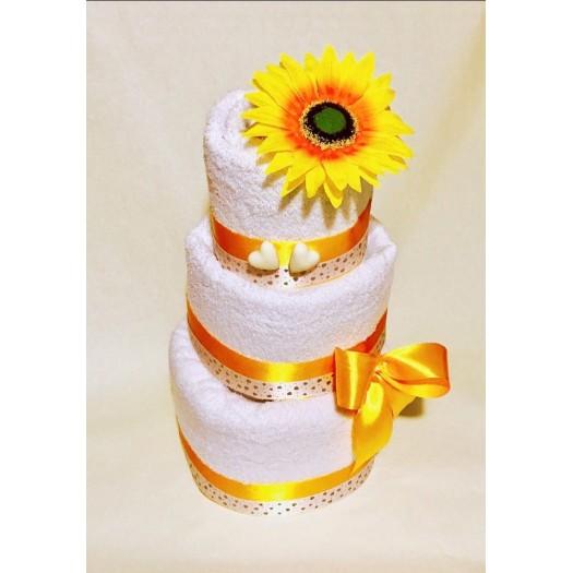 Darček z osušiek: Žltá torta