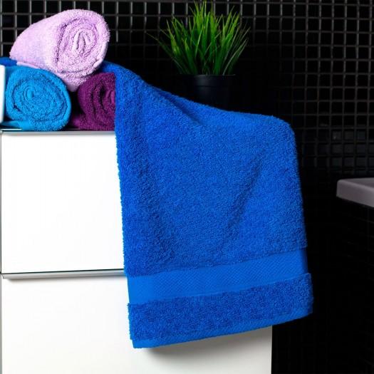Bavlnený uterák modrej farby