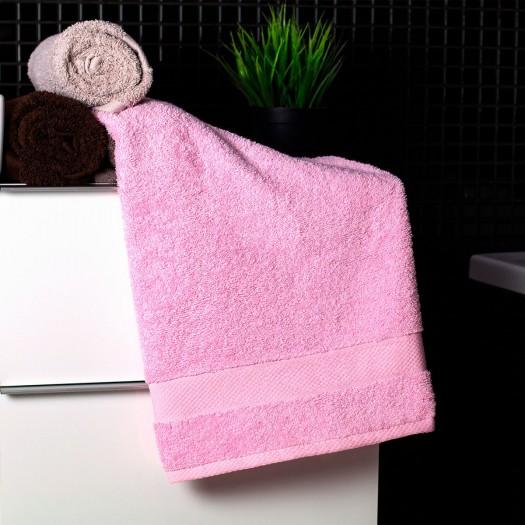 Bavlnený uterák svetlo ružovej farby