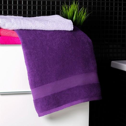 Bavlnená osuška tmavo fialovej farby