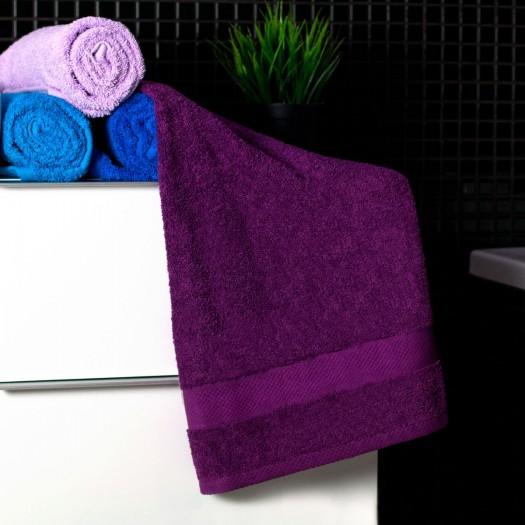 Bavlnený uterák tmavo fialovej farby