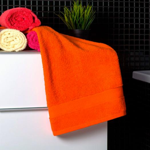 Bavlnený uterák oranžovej farby