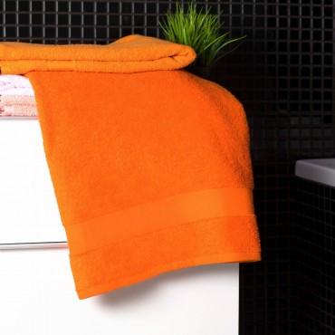 Ajoss Bavlnená osuška oranžovej farby 140x70cm