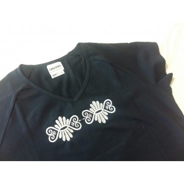 Folklórne tričko krátky rukáv s výšivkou č.6