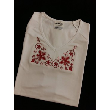 Folklórne tričko krátky rukáv s výšivkou č.5