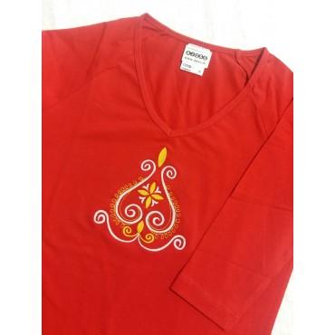 Folklórne tričko dlhý rukáv s výšivkou č.4