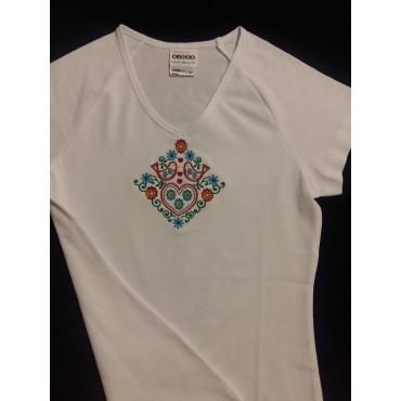 Folklórne tričko krátky rukáv s výšivkou č.7